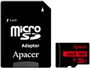 Apacer 16GB Class 10 Micro-Sd+Adaptor, Retail Box , Limited Lifetime Warranty