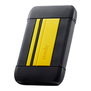 Apacer AC633 2TB USB 3.1 External Hard Drive – Yellow, Retail Box, Limited 3 Year Warranty