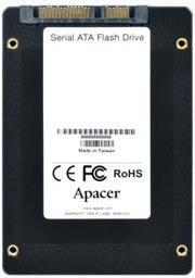 Apacer 512GB NAS SSD Drive; Interface-SATA III, Terabytes Written (TBW) 820, NAND flash 3D TLC; Continuous Read Speed (MB/s) 550, Continuous Write Speed (MB/s) 490, 4K Random R/W Speed (IOPS) 75,000; Random Write IOPS (4K) 68,000, Retail Box, 5 year warranty