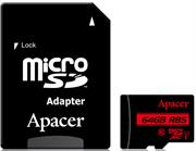 Apacer 64GB Class 10 Micro-Sd+Adaptor , Retail Box , Limited Lifetime Warranty