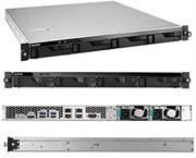 Asustor AS6204RD Rack Mount 4 x Bay Hot Swappable Enterprise Network Attached Storage Device- 1U Rack Mount Chassis with Dual Redundant 250W Power Supply Units, Intel Celeron 1.6GHz Quad-Core (Burst up to 2.24GHz) Processor, Intel UHD 600 Graphics, CPU Architecture x64 64-bit, 4GB DDR3 SO-Dimm Memory, Expandable up to Maximum Memory Capacity 8 GB ( 2x SO-Dimm Memory Slots), 512MB DOM Flash Memory, 4 x 3.5 Inch SATA III Drive Bays, No Hard Drives Included Supports RAID Levels 0, 1, 5, 6, 10 and JBOD, Supports Four Hot-Swappable HDDs up to 16TB, Supports Intel AES-NI Hardware Encryption Engine, 4 x SuperSpeed USB 3.0 (5 GB/s) Port, 1 x HDMI 1.4b Port, 1 x RS-232 Com Port, 4 x Gigabit Ethernet Ports, 2 x 40mm System Fans, Disk Tray Locks, Smart Fan Temperature Control, ADM 2.6 Operating System, Retail Box, 1 Year Warranty