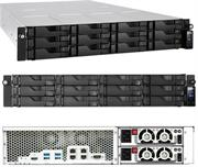 Asustor AS6212RD Rack Mount 12 x Bay Hot Swappable Enterprise Network Attached Storage Device-2U Rack Mount Chassis with Dual Redundant 350W Power Supply Units, Intel Celeron 1.6GHz Quad-Core (Burst up to 2.24GHz) Processor, 4GB SO-DIMM DDR3L, 512MB DOM Flash Memory Expandable up to Maximum Memory Capacity 8GB (2x SO-Dimm Memory Slots), 512MB DOM Flash Memory, 12 x 3.5 Inch SATA III Drive Bays, Supports RAID Levels 0, 1, 5, 6, 10 and JBOD, Supports 12 x Hot-Swappable HDDs up to 16TB, No Hard Drives Included, Supports Intel AES-NI Hardware Encryption Engine, 4 x Super Speed USB 3.0 (5 GB/s) Ports, 1 x HDMI 1.4b Port, 1 x RS-232 Com Port, 4 x Gigabit Ethernet Ports, 2 x 60mm System Fans, Disk Tray Locks, Smart Fan Temperature Control, ADM 2.6 Operating System, Retail Box, 1 Year Warranty