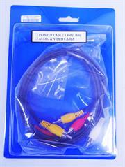 UniQue Audio/Video Cable RCA M-M 1.8M, Retail Box, No Warranty