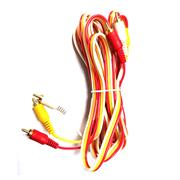 Geeko 3m 3x RCA Cinch Male to Male Audio/Video Cable, Retail Box, No Warranty