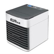 Alva Cool Cube Pro Evaporative Cooler – Advanced hydro-chill technology, Upgraded & re-usable filtration system, Works off most USB power sources, Personal space cooler (perfect for desktop use), Lightweight, portable & quiet – use almost anywhere,, Filter can placed in freezer to provide even colder air, Energy efficient, Top-fill water tank provides up to 10hrs of use, Drawer design for easy filter removal, Multi-directional vent, Night light with adjustable brightness, 7 Ambient led options, Retail Box, 1 year warranty
