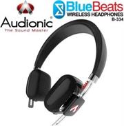 Audionic BlueBeats B334 Wireless Bluetooth HeadPhones – Black, Retail Box , 1 year Limited Warranty
