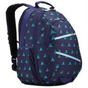 Case Logic Berkeley II Indigo Peaks 15.6 inch Laptop Backpack – Dedicated pocket for a 15.6 inch laptop and dedicated sleeve for your iPad® or Tablet PC, Cash-stash pocket on back panel provides hidden storage for money and ID, Suitcase style opening on main compartment allows high visibility, Articulating shoulder straps seamlessly move to accommodate various body types, Oversized zippers provide smooth access and are wide enough to attach a luggage lock for extra security, Removable, adjustable sternum strap offers extra support when toting heavy items, Mesh side pockets conveniently store water bottles easily within reach-Indigo Blue, Retail Box, 1 year Limited Warranty