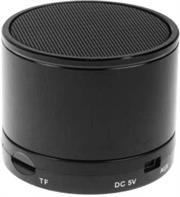 Geeko Mini Rechargeable Bluetooth Version V2.1 Speaker with Microphone -built-in 520mAh lithium battery, Operating Range up to 10m, Total Power 3W, Mini-USB port , MicroSD card slot – Midnight Black, Retail Box , 1 year Limited Warranty