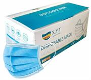 Casey XYT Branded 3 Ply Disposable Face Mask with Earloop – 50 Per Pack Non-Woven, Flexible Nose Piece, 3 Layer Fabric Ensure High Filtration Efficiency and Absorption, Colour Blue Retail Box No Warranty