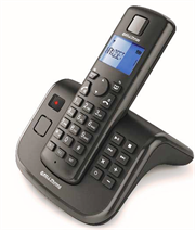 Bell Cordless Telephone AIR-05 – Dect Cordless Phone with TAM – Black, Retail Box , 1 year warranty