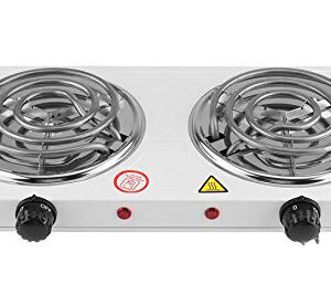 Casey Condere Electric 2 Plate Spiral Stove Colour White Retail Box 3 months warranty