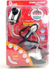 1.3Mega Pixel USB Webcam, Ir.Mic+H/Phone, Retail Box , 1 year Limited warranty