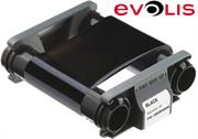 Evolis Black Monochrome Printer Ribbon -for Badgy100 and 200 Printers ,up to 500 prints Retail Box , 1 year Limited Warranty