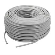 Netix UTP CAT5E CCA Solid Core 24AWG Cable 305m- Easy Pull Box Colour Grey-CCA cable, Brown Box, No Warranty