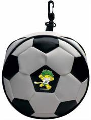 Esquire Official FIFA 2010 Licensed Product CD Wallet ZAKUMI Celebration Pose:Holds 24 CD or DVD with Zipper and Hook-Purchase as a mémoire of the 2010 Soccer World Cup in South Africa!, Retail Packaged ,