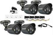 KGuard Easy Link Pro Camera Kit – 4 X 600 TVL Cameras high resolution to make video clearer Night vision up to 20m/65ft in total darkness Waterproof case to protect the Camera and survive rainy days, Retail Box , 1 Year warranty