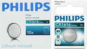 Philips Minicells Battery CR1616 Lithium Sold as Box of 10, Retail Box , No Warranty