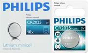 Philips Minicells Battery CR2025 Lithium Sold as Box of 10, Retail Box , No Warranty
