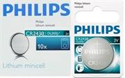 Philips Minicells Battery CR2430 Lithium Sold as Box of 10, Retail Box , No Warranty