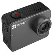 Ezviz S2 Action+Dash Camera 1080P. 45.4mm×58.1mm Size/150 minutes of 1080p video/150° Ultra-wide angle/1080p/60fps/Action Camera mode&Dash Camera mode&Live Camera Modes/256GB SD card/Distortion Correction/Wireless Control:App Preview and Sharing, App and Remote Control/Wide Dynamic Range/IPS Touch Display/, Retail Box, 1 Year Warranty