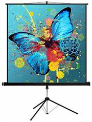 Esquire Tripod Projector Screen – Square format 150 x 150, Retail Box , 1 year Limited Warranty