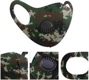 Casey Reusable 3D Structured Unisex Dual Layer Face Masks With Breath Valve Colour Camo Forest Green-Masks Are Washable, Reusable, And Can Be Folded For Easy Carrying, Breath Valve Closes When You Inhale And Opens When You Exhale, 3D Structured Dual Layer Design Make The Masks Fits Any Shape Of Face Perfectly, Not Medical Grade, Skin-Friendly Breathable Fabric For People With Skin Sensitive Allergies, Fit Comfortably Around Ears- Green Black and Brown Retail Box No Warranty