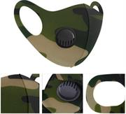 Casey Reusable 3D Structured Unisex Dual Layer Face Masks With Breath Valve Colour Camo Military Green-Masks Are Washable, Reusable, And Can Be Folded For Easy Carrying, Breath Valve Closes When You Inhale And Opens When You Exhale, 3D Structured Dual Layer Design Make The Masks Fits Any Shape Of Face Perfectly, Not Medical Grade, Skin-Friendly Breathable Fabric For People With Skin Sensitive Allergies, Fit Comfortably Around Ears- Green Black and Beige Retail Box No Warranty