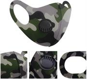 Casey Reusable 3D Structured Unisex Dual Layer Face Masks With Breath Valve Colour Camo Purple-Masks Are Washable, Reusable, And Can Be Folded For Easy Carrying, Breath Valve Closes When You Inhale And Opens When You Exhale, 3D Structured Dual Layer Design Make The Masks Fits Any Shape Of Face Perfectly, Not Medical Grade, Skin-Friendly Breathable Fabric For People With Skin Sensitive Allergies, Fit Comfortably Around Ears Purple , Green , Black and Beige Retail Box No Warranty