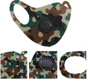 Casey Reusable 3D Structured Unisex Dual Layer Face Masks With Breath Valve Colour Camo Woodland Green-Masks Are Washable, Reusable, And Can Be Folded For Easy Carrying, Breath Valve Closes When You Inhale And Opens When You Exhale, 3D Structured Dual Layer Design Make The Masks Fits Any Shape Of Face Perfectly, Not Medical Grade, Skin-Friendly Breathable Fabric For People With Skin Sensitive Allergies, Fit Comfortably Around Ears- Green Black and Brown Retail Box No Warranty