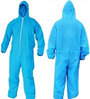 Casey Non Woven Disposable Full Body Coverall Suit -Size Large , Elasticated Wrists, Legs and Waist, Hooded, Nylon Zipper Front. Non-Woven Spun Bond Polypropylene , Colour Light Blue Retail Box No Warranty