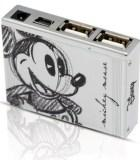 Disney Mickey Mouse Mini HUB,USB2.0 – Transfer speed:480mbps , Retail Packaged ,