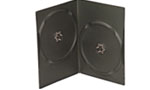 UniQue DVD Library Case – 7mm, Holds 2 x DVD -5 Pack -Black, Retail Box, No Warranty