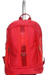 Macaroni Caretto 17″ Dotted Nylon Trolley Backpack-Red, Retail Box, 1 year Limited Warranty