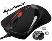 Sharkoon FireGlider Optical – 7 buttons, 5 of them freely programmable, DPI switch with color display (5 steps), Retail Box , 1 Year warranty