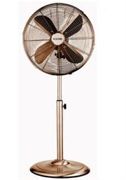 Goldair 40cm Copper Pedestal Free Standing 4 Blade Fan- Lightweight Modern Design, Height Adjustable Stand, Sturdy Round Base, 4 High Quality Aluminium Soft Blades, Metal Construction, Circular Guard Mesh Grill , 3 Speed Velocity Settings, 50w Silent Motor, 230v Voltage, 50Hz Frequency, Colour Copper, Retail Box 1 Year Warranty