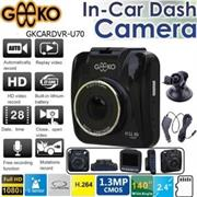 Geeko In-Car Dash Cam DVR Standard Entry Level with 2.4 inch TFT Colour LCD Screen – 1.3 Mega pixels Hardware Resolution , Video Recording Resolution 1080i / Up to 1080p Interpolated to Full HD by software , Support Auto Video recording , Support Night-vision , Built-in microphone , G-sensor file protect , Built-in lithium battery 300mAh ,Support microSD card up to 32GB , Unlimited video recording, Mini USB port – Black , Retail Box , 1 year Limited Warranty