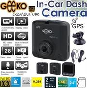 Geeko In-Car Dash Cam DVR Full High Definition DVR with Built in GPS signal receiver and 2.4 inch TFT Colour LCD Screen -2.0 Mega pixels Hardware Resolution , High quality Video Recording Resolution max. Full HD (1920 x 1080p) at 30fps , Support Auto loop video recording , Support Night-vision , Built-in Speaker and Microphone , G-sensor file protect , Built-in lithium battery 300mAh ,Support microSD card up to 64GB , Unlimited video recording, Mini USB port – Black, Retail Box , 1 year Limited Warranty