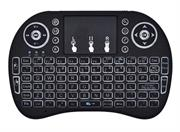 Geeko Mini Wireless Keyboard with TouchPad For Smart TV and Android TV Box – Nano 2.4GHz USB Adapter Included, Backlit 92 Keys QWERTY Style Keyboard with Multi-Finger functions Touchpad Support, Multimedia Control Keys and PC Gaming Control Keys, Li-ion Battery, Black, Retail Box , 1 year Limited warranty