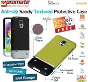 Promate Gritty S5 Anti-slip sandy textured protective case for Samsung Galaxy S5 Colour:Black , Retail Box , 1 Year Warranty