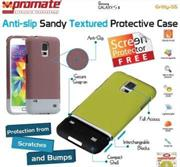 Promate Gritty S5 Anti-slip sandy textured protective case for Samsung Galaxy S5 Colour:Maroon, Retail Box , 1 Year Warranty