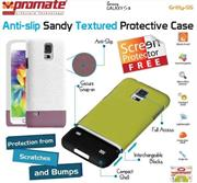 Promate Gritty S5 Anti-slip sandy textured protective case for Samsung Galaxy S5 Colour:White, Retail Box , 1 Year Warranty