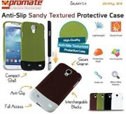 Promate Gritty.S4-Anti-slip sandy textured protective case-Green, Retail Box, 1 Year Warranty