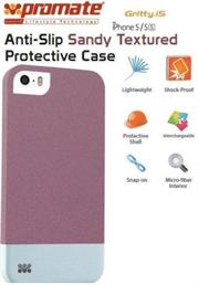 Promate Gritty-i5 iPhone 5 Anti-Slip Sandy finishing protective case for Iphone 5/5s Colour:Maroon Anti-Slip Sandy finishing with micro-fiber interior protective case for iPhone5/5S. Gritty.i5 for iPhone 5/5s is made of a high-quality anti-slip texturized polycarbonate plastic that provides long-lasting protection from accidental drops, scratches, abrasions and damage. The micro-fiber interior provides soft, impact-absorbing protection, keeping your phone free from scratches or bumps. , Retail Box , 1 Year Warranty