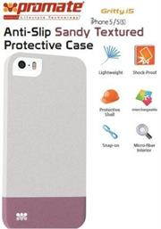 Promate Gritty-i5 iPhone 5 Anti-Slip Sandy finishing protective case for Iphone 5/5s Colour:White Anti-Slip Sandy finishing with micro-fiber interior protective case for iPhone5/5S. Gritty.i5 for iPhone 5/5s is made of a high-quality anti-slip texturized polycarbonate plastic that provides long-lasting protection from accidental drops, scratches, abrasions and damage. The micro-fiber interior provides soft, impact-absorbing protection, keeping your phone free from scratches or bumps. , Retail Box , 1 Year Warranty