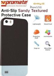 Promate Gritty-i5 iPhone 5 Anti-Slip Sandy finishing protective case for Iphone 5/5s Colour:Black Anti-Slip Sandy finishing with micro-fiber interior protective case for iPhone5/5S. Gritty.i5 for iPhone 5/5s is made of a high-quality anti-slip texturized polycarbonate plastic that provides long-lasting protection from accidental drops, scratches, abrasions and damage. The micro-fiber interior provides soft, impact-absorbing protection, keeping your phone free from scratches or bumps. , Retail Box , 1 Year Warranty