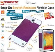 Promate Grosso.N3-Snap-On Scratch-Resistant Flexible Case-Red, Retail Box, 1 Year Warranty