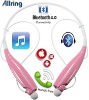 AllRing HBS730 Flexible Bluetooth Ver 4.0 Wireless Hand Free Sports Stereo Headsets Neckband Style Earphones – Pink, Retail Box , 1 year Limited Warranty