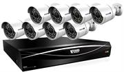 """KGuard 16 Channel HD Series + 8 Cameras Combo Kit ( Hybrid DVR Supports 16CH Analoge & 8 CH IP Cameras, 24 Cameras Combined) – H.264 compression latest recording technology HD recording resolution quality is better than D1 Full HD output with 1080P display standard for connection to HDTV Easy to set up network without difficult configuration Exclusive DVR to connect Cloud Service and you have a personal space Advanced motion schedule can manage email alerts easily Free """"kview"""" allows remote monitoring on your smartphones and tablets KGuard Fulcolor to provide excellent colorful images Using 3.6mm fixed lens with 75 degrees viewing angle to monitor particular areas 8 X 720P Cameras high resolution to make video clearer Night vision up to 30M in total darkness Waterproof case to protect the Camera and survive rainy days.Support mixing and installing Analog Cameras from different technologies (AHD 1080P/AHD 720P/Standard 960H). No need to be done in groups of two, Retail Box , 1 Yea"""