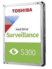 Toshiba S300 8TB 3.5″ Surveillance Hard Drive, , 1 year warranty