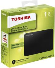 Toshiba Canvio Basics 1TB Portable 2.5 inch USB Powered External Hard Drive-USB-powered, SuperSpeed USB 3.0 for PC, Xbox, PS4- Matt finish Black , Retail Box, Limited 2 Year Warranty